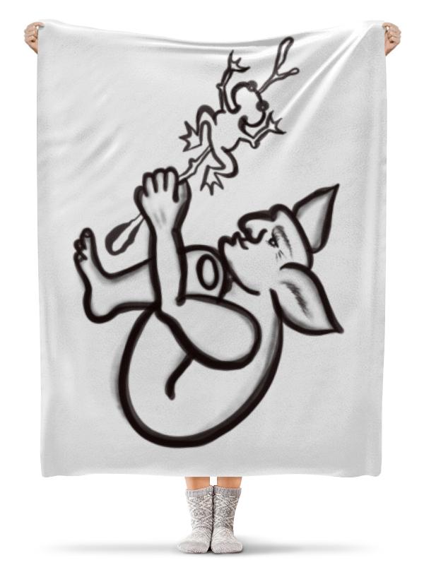 Плед флисовый 130х170 см Printio Задумчивый тролль с лягушкой цены онлайн