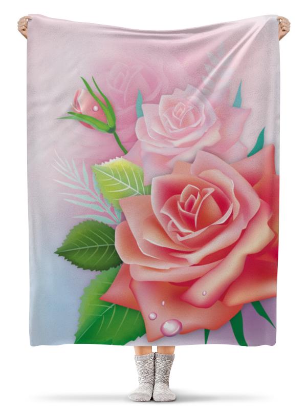 Плед флисовый 130х170 см Printio Розочка сумка printio розочка