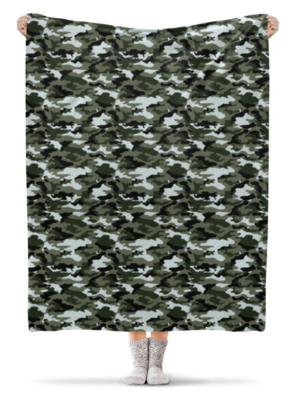 Плед флисовый 130х170 см Printio Камуфляж 3 плед флисовый 130х170 см printio пушистая семья 3
