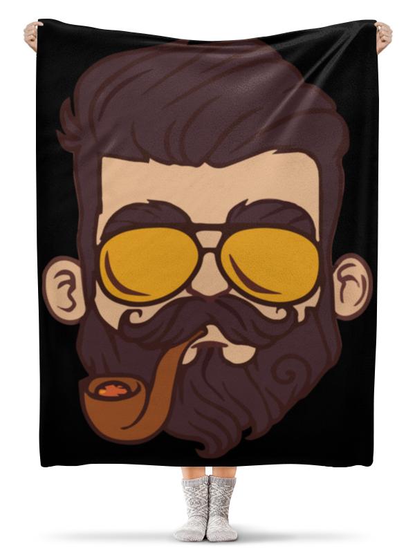 Плед флисовый 130х170 см Printio Бородист / borodist обложка для паспорта printio бородист borodist