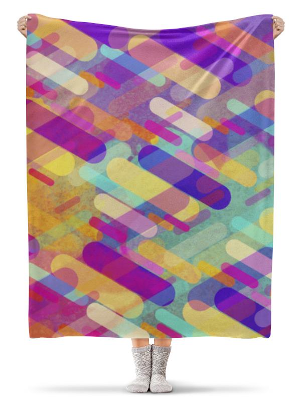 Плед флисовый 130х170 см Printio Разноцветная абстракция