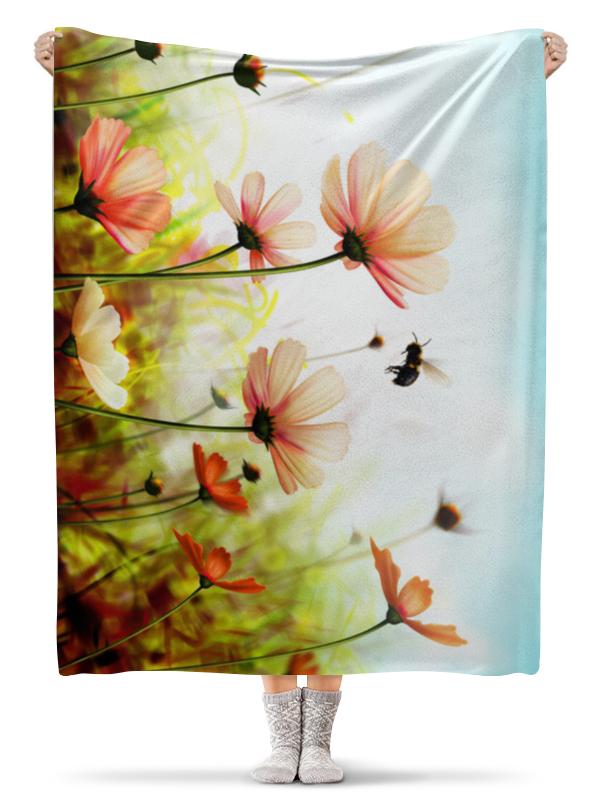 Плед флисовый 130х170 см Printio Весенний шмель