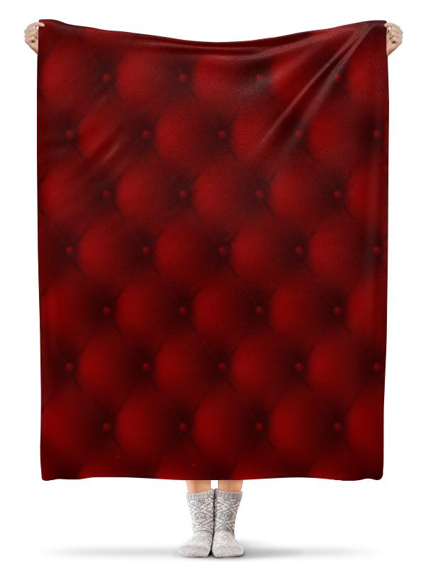 Плед флисовый 130х170 см Printio Красный плед флисовый coral fleece цвет красный 220 х 200 см