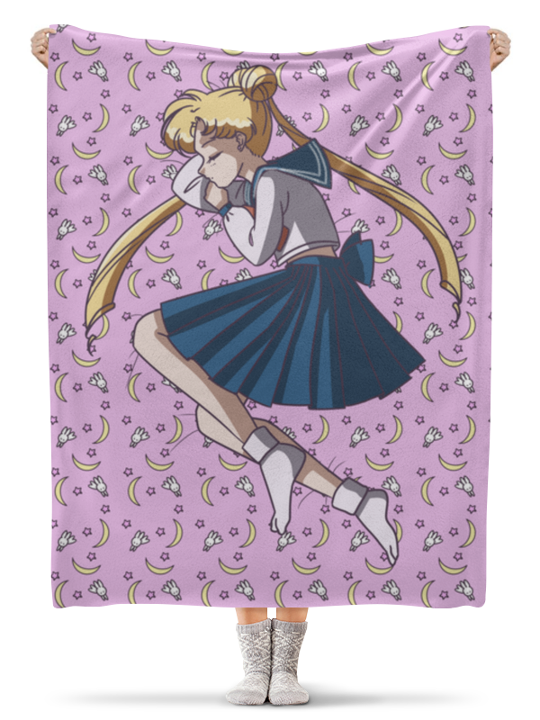 Плед флисовый 130х170 см Printio Sailor moon
