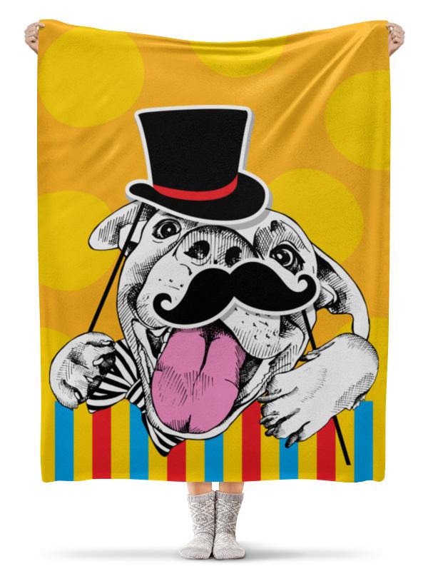 Printio Собака плед флисовый 130х170 см printio петух символ 2017 года