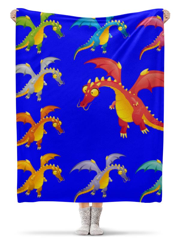 Плед флисовый 130х170 см Printio Динозавры плед флисовый 130х170 см printio свин бэтмен