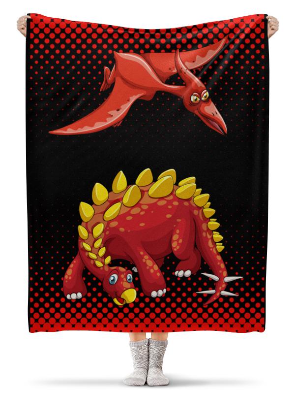 Printio Динозавры плед флисовый 130х170 см printio retouched