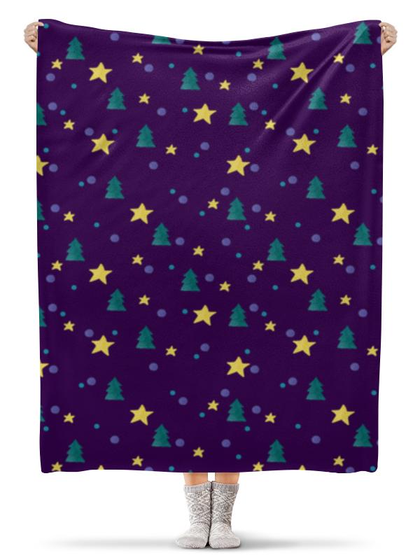 Плед флисовый 130х170 см Printio Елки и звезды нашествие дни и ночи