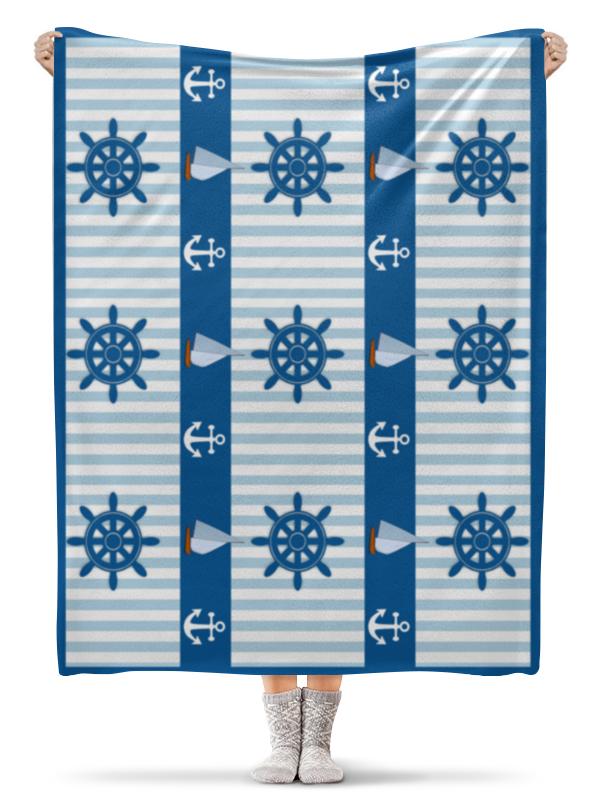 Плед флисовый 130х170 см Printio Морская тема плед флисовый 130х170 см printio грузия регби