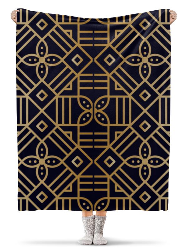 Плед флисовый 130х170 см Printio Цветочное золото плед флисовый 130х170 см printio грузия регби