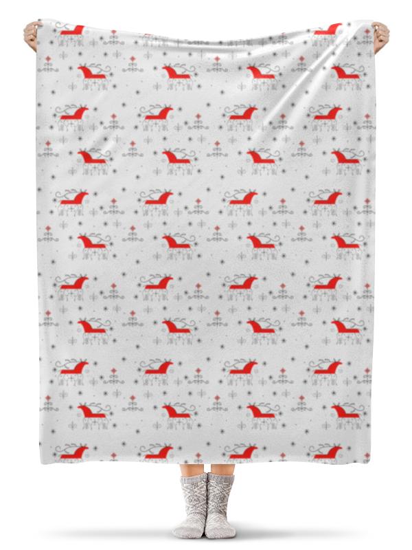 Плед флисовый 130х170 см Printio Мезенская роспись детская футболка классическая унисекс printio череп мезенская роспись