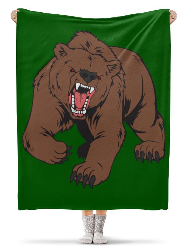 Плед флисовый 130х170 см Printio Bear / медведь