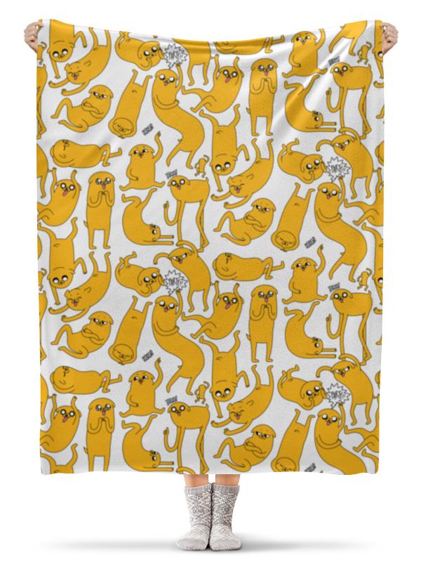 Плед флисовый 130х170 см Printio джейк пёс. время приключений фигурки джейк и деревяшка 2в1 6 см время приключений