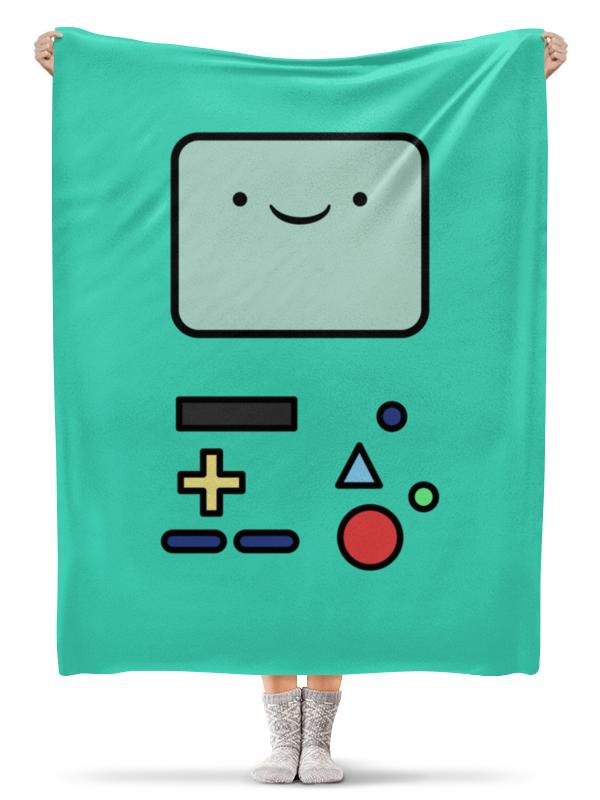 Плед флисовый 130х170 см Printio Бимо. время приключений футболка классическая printio игровая приставка денди