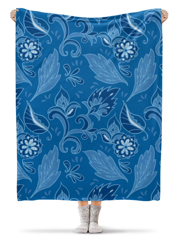 Плед флисовый 130х170 см Printio Цветочный