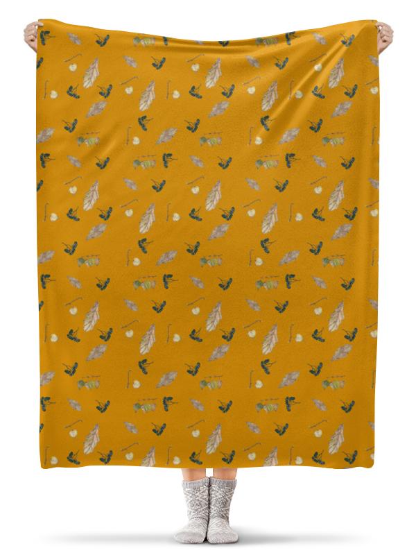 Плед флисовый 130х170 см Printio Осенние краски длинные осенние кaрдигaны