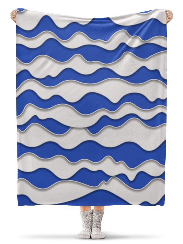 все цены на Плед флисовый 130х170 см Printio Абстрактные волны онлайн