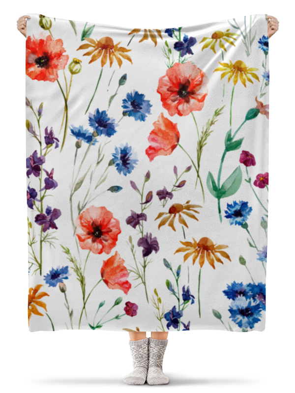 Плед флисовый 130х170 см Printio Полевые цветы плед флисовый 130х170 см printio ажурный