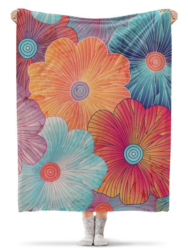 Плед флисовый 130х170 см Printio Цветы плед флисовый 130х170 см printio садовые цветы