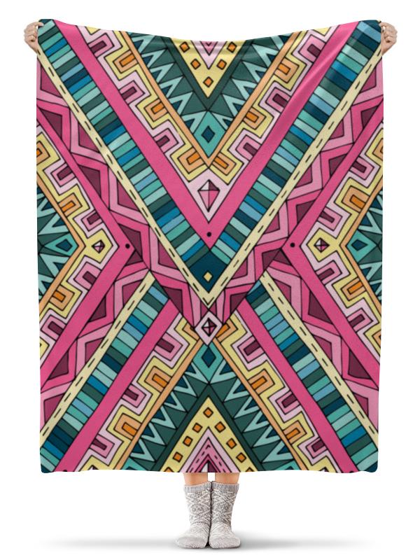 Плед флисовый 130х170 см Printio Орнамент цена 2017