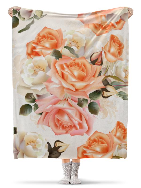 Плед флисовый 130х170 см Printio Чайная роза беверли дж патни м харбо к и др чаша роз ворон и роза белая роза шотландии английская роза мисс темплар и святой грааль вечная роза
