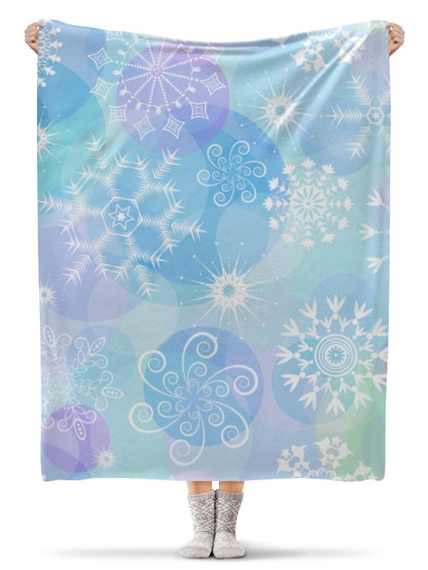Плед флисовый 130х170 см Printio Снежинка пледы и покрывала vladi плед снежинка 140х200 см