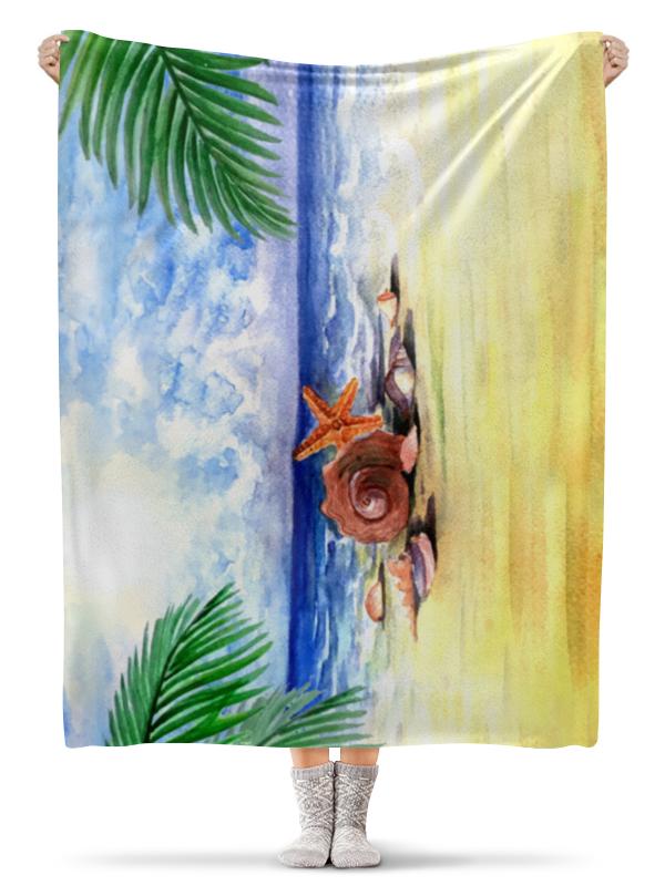 Плед флисовый 130х170 см Printio Пляжный плед пляжный karabuk