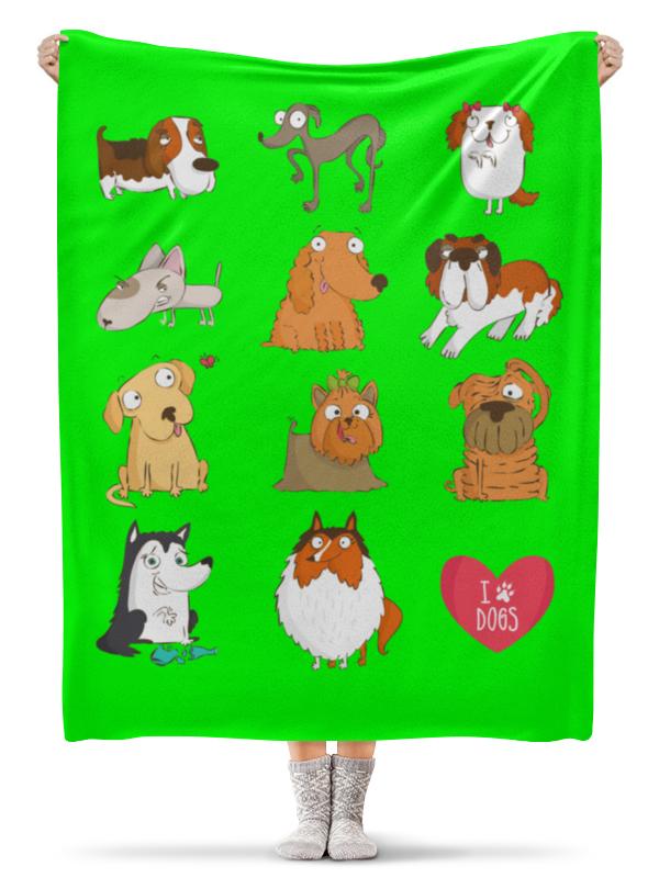 Плед флисовый 130х170 см Printio Собаки плед флисовый 130х170 см printio кролик