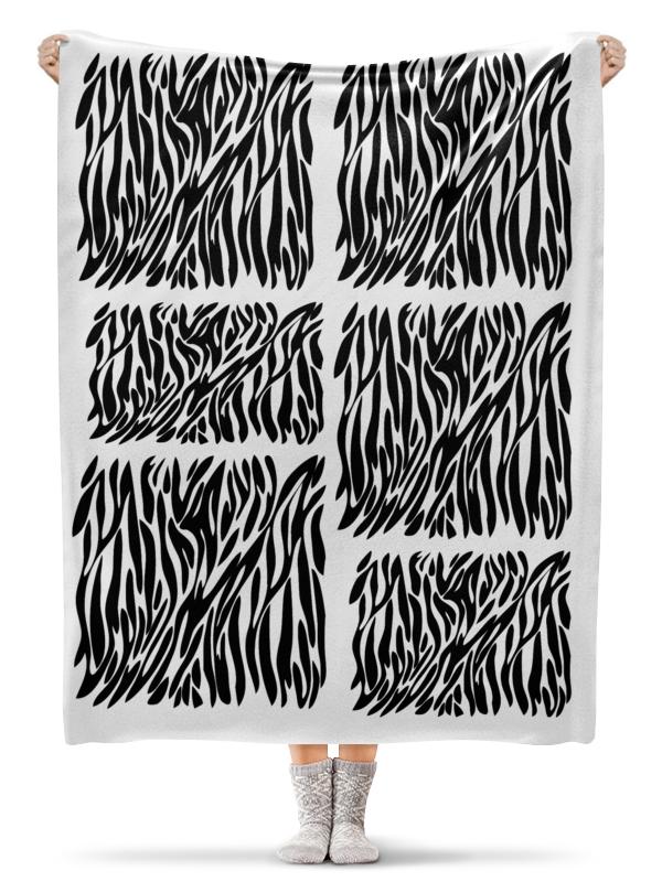 Плед флисовый 130х170 см Printio Зебры. печворк