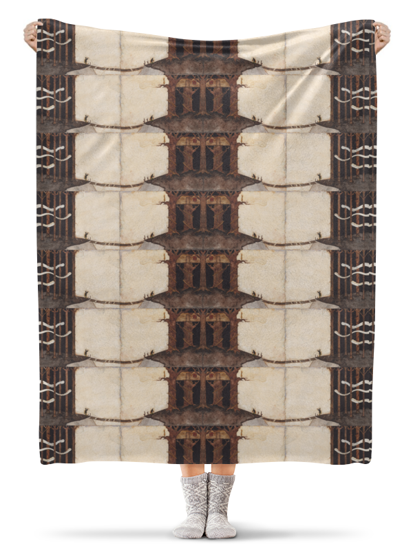 Плед флисовый 130х170 см Printio Лесной замок плед флисовый 130х170 см printio asking alexandria