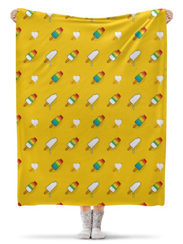 Плед флисовый 130х170 см Printio Поп арт дизайн. мороженое паттерн