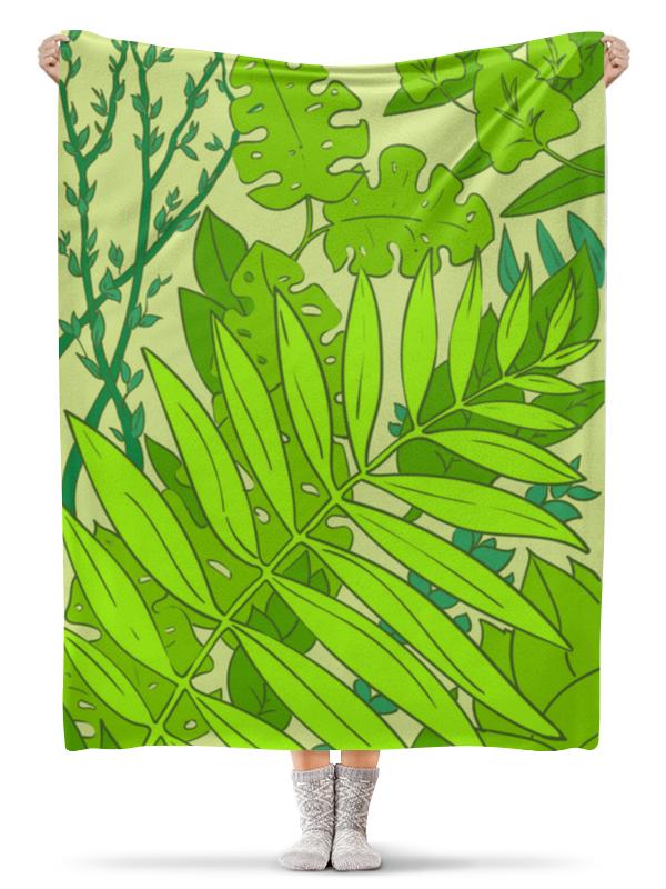 Плед флисовый 130х170 см Printio Тропические расстения