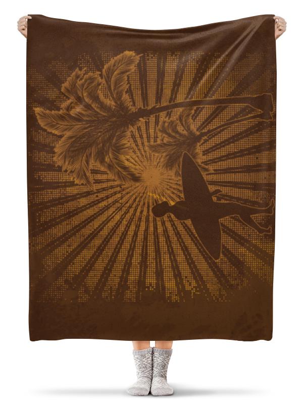 Плед флисовый 130х170 см Printio Гавайи