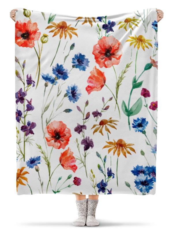 Плед флисовый 130х170 см Printio Полевые цветы