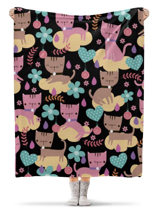 Плед флисовый 130х170 см Printio Весёлые котята полуперсидские котята в москве