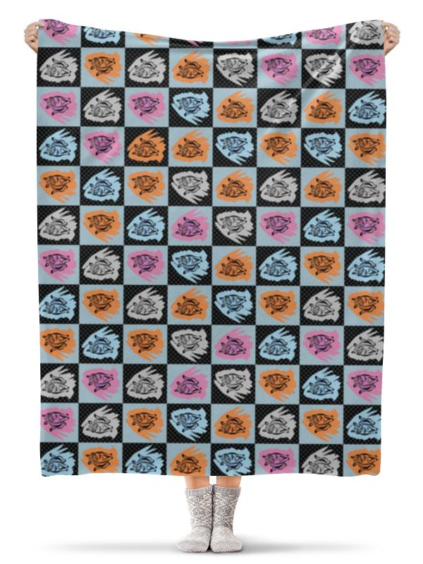 Плед флисовый 130х170 см Printio Коты в клеточку electric lingerie колготы в клеточку