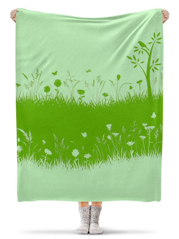 Плед флисовый 130х170 см Printio Летняя трава трава болиголов настойка алтуфьево