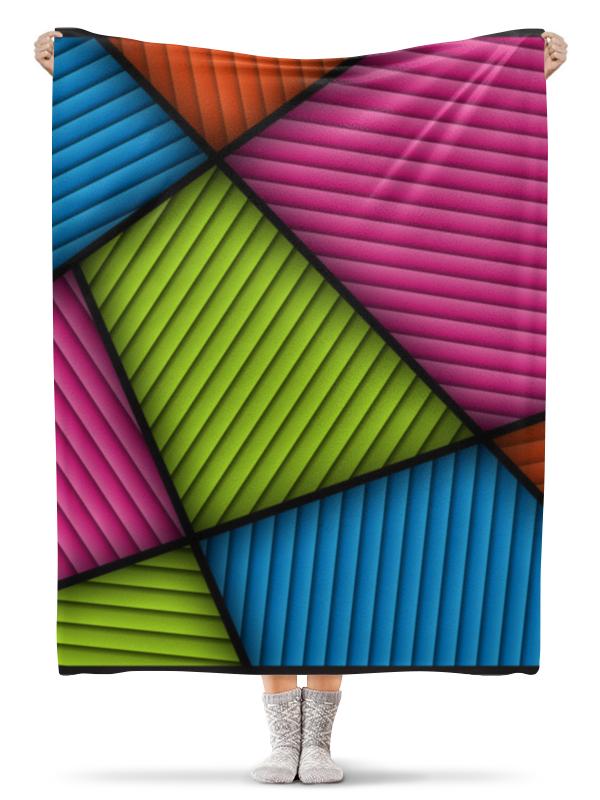 Printio Цветная абстракция плед флисовый 130х170 см printio абстракция