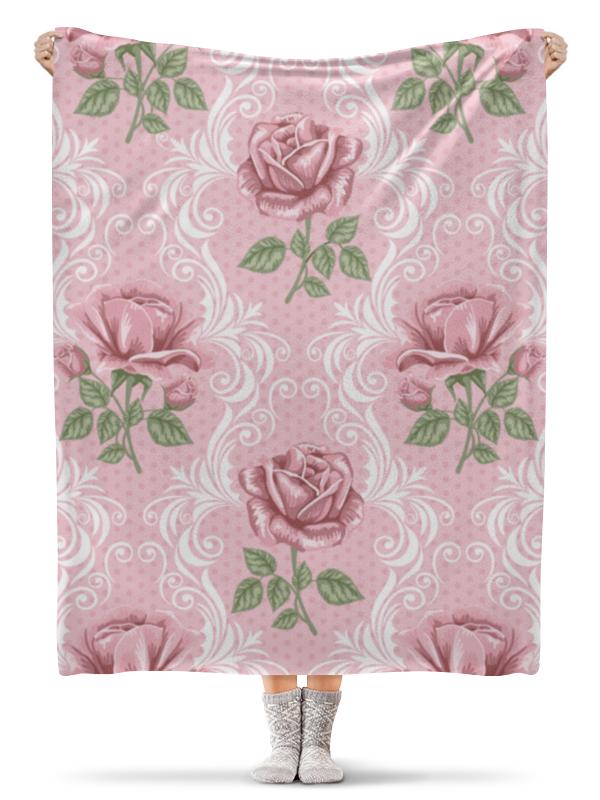 Плед флисовый 130х170 см Printio Розы (цветы) плед флисовый 130х170 см printio свин бэтмен