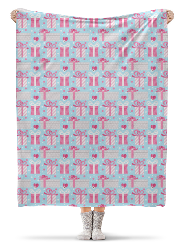 Плед флисовый 130х170 см Printio Новогодние подарки