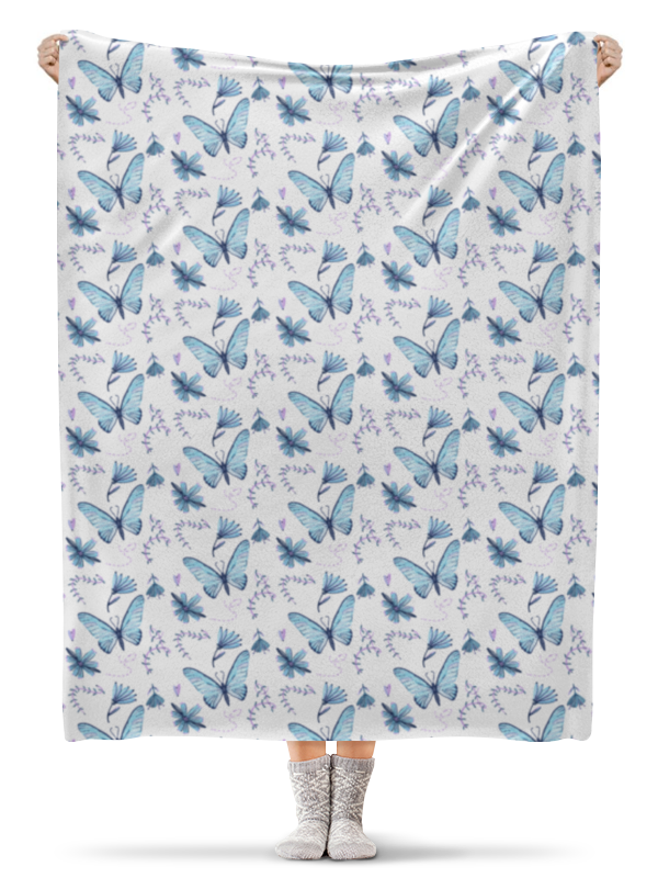 Плед флисовый 130х170 см Printio Бабочки