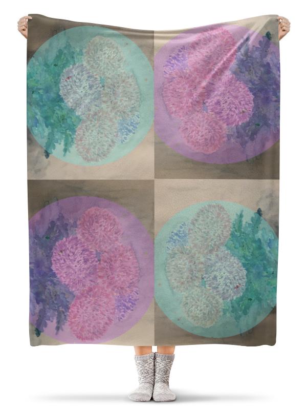 Плед флисовый 130х170 см Printio Хризантемы плед флисовый 130х170 см printio плед финская тема