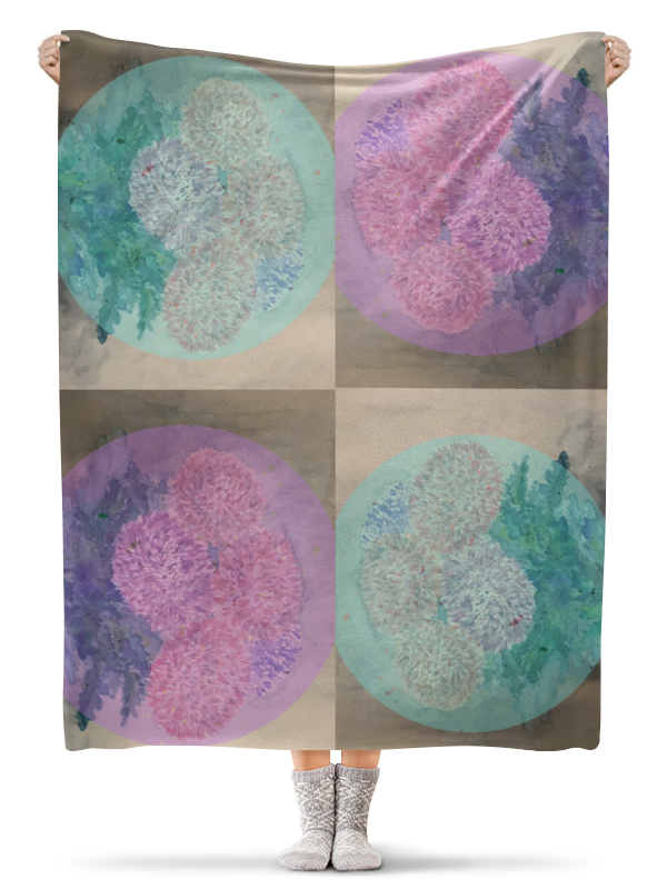 Плед флисовый 130х170 см Printio Хризантемы плед флисовый 130х170 см printio умиротворение