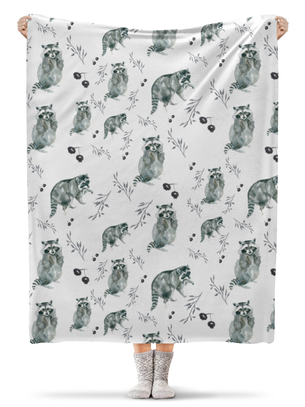 Плед флисовый 130х170 см Printio Еноты закладки еноты обормоты