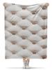 """Плед флисовый 130х170 см """"постельные тона"""" - ромб, каретная стяжка"""