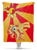 "Плед флисовый 130х170 см ""Sunset Shimmer Color Line"" - sun, cutiemark, sunset shimmer"