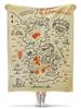 """Плед флисовый 130х170 см """"Карта Вестероса. Игра Престолов"""" - вестерос"""