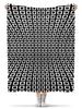 """Плед флисовый 130х170 см """"Abstract Design"""" - абстракция, геометрия, квадраты, иллюзия, геометрические фигуры"""