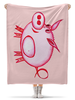 """Плед флисовый 130х170 см """"Розовый поросенок"""" - арт, счастье, малыш, свин, розовый поросенок"""