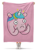 """Плед флисовый 130х170 см """"Unicorn / Единорог"""" - лошадь, unicorn, иллюстрация, единорог"""